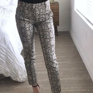 Zara snake print slacks